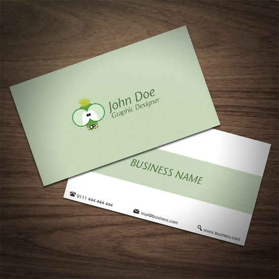 Business Card With 2 Alternative Back Sides - business card design