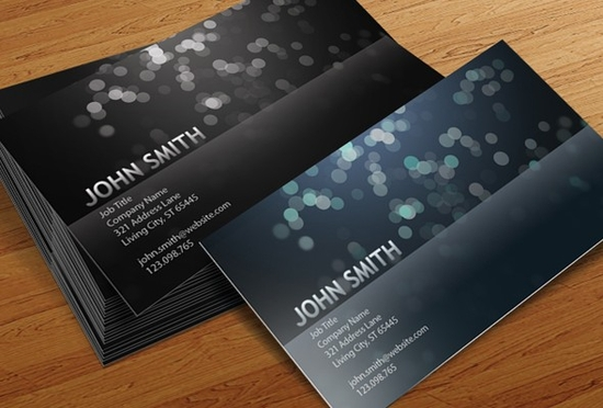 Blurry Circles Business Card Templates - business card template