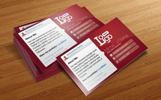 Social Media Business Card Template - business cards online