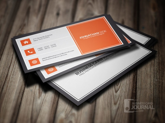 Orangey Metro Style Business Card Template - design business cards