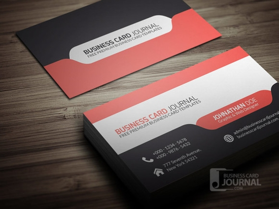 Stylish & Modern Tab Design Business Card Template - design business cards