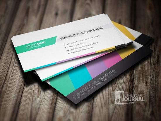 Clean & Creative Multicolor Business Card Template - business cards