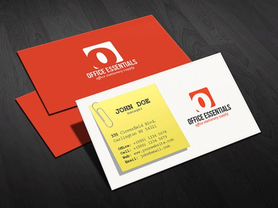 Creative Office Supplies Business Card Template - cheap business cards