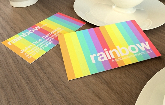 Rainbow Business Card Template - business cards