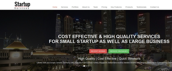 Startup Service - html5 website templates