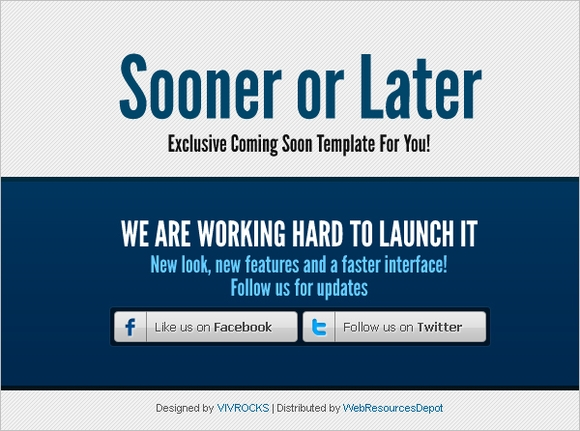 Sooner or later - coming soon pages wordpress