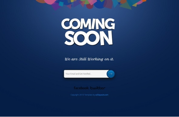 Coming Soon page template - tools