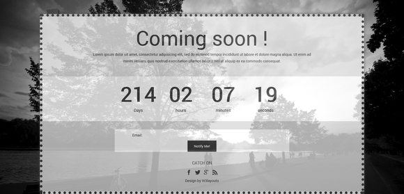 Dark Under Construction Website Template - coming soon pages html